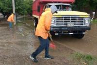 Realizan trabajos para dar solución a los daños ocasionados por la tormenta