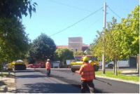 Continúan las obras de repavimentación en varios sectores de la capital sanjuanina