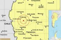 Un fuerte sismo sacudió San Juan