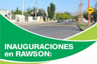 El barrio 12 de Diciembre en Rawson, inaugura obras