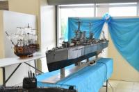 Impresionante maqueta del ARA General Belgrano realizada por un sanjuanino