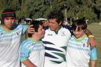 El encuentro de veteranos de rugby contó con la participación de Dinos