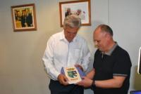 Juan Carlos Gioja recibió la visita del alcalde de Jalón