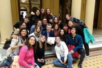 Los alumnos de la Modelo visitaban la Casa Rosada y fueron sorprendidos por el Presidente de la Nación