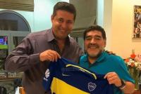 Maradona celebró la consagración de Boca y elogió a Angelici