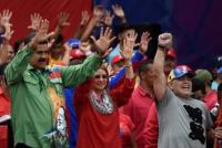 Maradona viajó a Venezuela para apoyar la reelección de Maduro