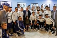 Macri pasó a darle la última despedida a la Selección
