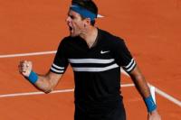 Rolland Garros: Del Potro ganó y avanzó a octavos