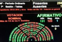 Así votaron los diputados el proyecto de despenalización sobre el aborto