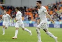 Uruguay derrotó a Egipto, con un cabezazo en el final