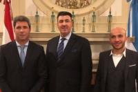 Uñac se reunió con el embajador del Líbano y el presidente de Carrefour Argentina