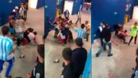 VIDEO: brutal golpiza de hinchas argentinos a croatas
