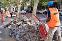 Capital: arreglos de veredas y reposición de tapas de arbolado