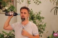El insólito dibujo del comediante Juan Barraza en su paso por San Juan