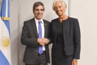 Christine Lagarde llegó al país y se reunió con Luis Caputo