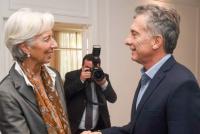 Mauricio Macri y Christine Lagarde y una cena de finanzas en Olivos