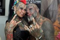 Conocé a la pareja argentina con el Record Guinness en tatuajes
