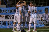 El Sub 20 superó 2-0 a la Selección de Murcia y quedó puntero