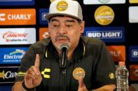 """Presentaron oficialmente a Maradona en México: """"No venimos de paseo"""""""