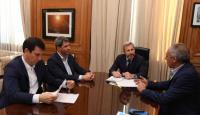 Junto a Rogelio Frigerio y dos gobernadores, Sergio Uñac firmó el nuevo pacto fiscal