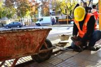 Continúan con reparaciones de veredas y construcciones de rampas de accesibilidad