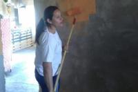 El municipio de Ullum cumplió y pintó la casa de una vecina