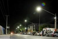 Quedó inaugurado el nuevo sistema de iluminación led en Av. Benavídez