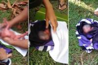 Dos gemelas recién nacidas fueron arrojadas desde un auto en movimiento y una murió