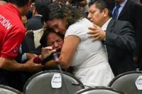 Una diputada mexicana se enteró del asesinato de su hija en plena sesión