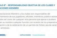 Esto es lo que dice el reglamento de CONMEBOL