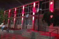 La Municipalidad de Santa Lucía se vistió de rojo, contra el VIH
