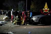 Italia: cinco adolescentes y una madre murieron en una estampida en medio de un recital de rap