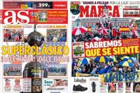 La Superfinal es la tapa principal de todos los diarios deportivos del mundo