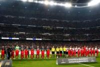 Así sonó el himno argentino en el Bernabéu