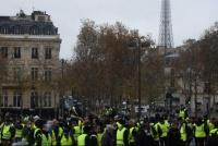 Tensión y varios detenidos en París en otra marcha de los