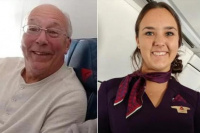 Un padre compró seis pasajes de avión para pasar la navidad junto a su hija azafata