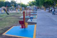 Marcelo Orrego inauguró obras de remodelación en la plaza del barrio Villa María