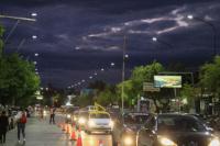 Habilitaron iluminación led en otro tramo de la Av. José Ignacio de la Roza