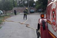 Gran despliegue de Bomberos en Caucete por una fuga de gas