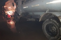 Asistieron a familias afectadas por las fuertes tormentas en Rivadavia