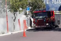 El barrio Los Pinos quedó sin luz por un incendioen un transformador