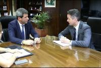 El gobernador Sergio Uñac se reunió con integrantes de la Comunidad Económica Europea, interesados en energías renovables