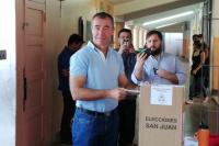 Fabián Martín votó en busca de la reelección en Rivadavia