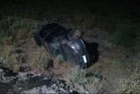 Madrugada trágica: un policía volcó y murió camino a la Difunta Correa