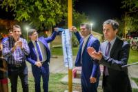 Marcelo Orrego inauguró obras de iluminación LED