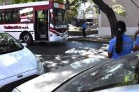 Un peatón fue atropellado por un colectivo en pleno centro