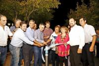 Inauguraron obras de iluminación en los barrios Fraternidad y Estrada