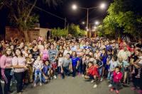 Marcelo Orrego inauguró una nueva avenida en Alto de Sierra