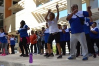 En el día mundial de la actividad física, más de 300 personas activaron la Plaza Seca