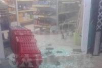 Rompieron la vidriera de un local comercial en Caucete